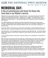 Memorial Day Fact Sheet